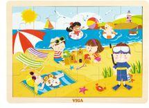 VIGA - Dřevěné puzzle Roční období - LÉTO