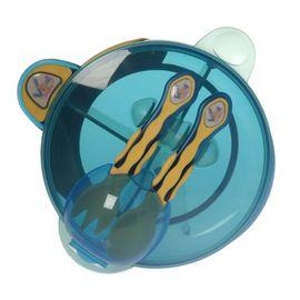 VITAL BABY - Můj první set s lžičkou a vidličkou - modrý / žlutý