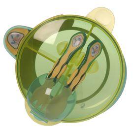 VITAL BABY - Můj první set s lžičkou a vidličkou - zelený / žlutý