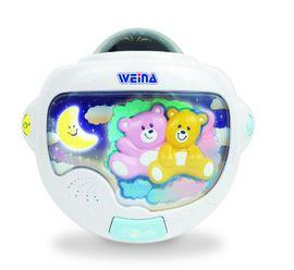 WEINA - Noční světlo medvídci s projektorem