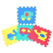 WIKY - Měkké puzzle bloky dopravní prostředky 30cm