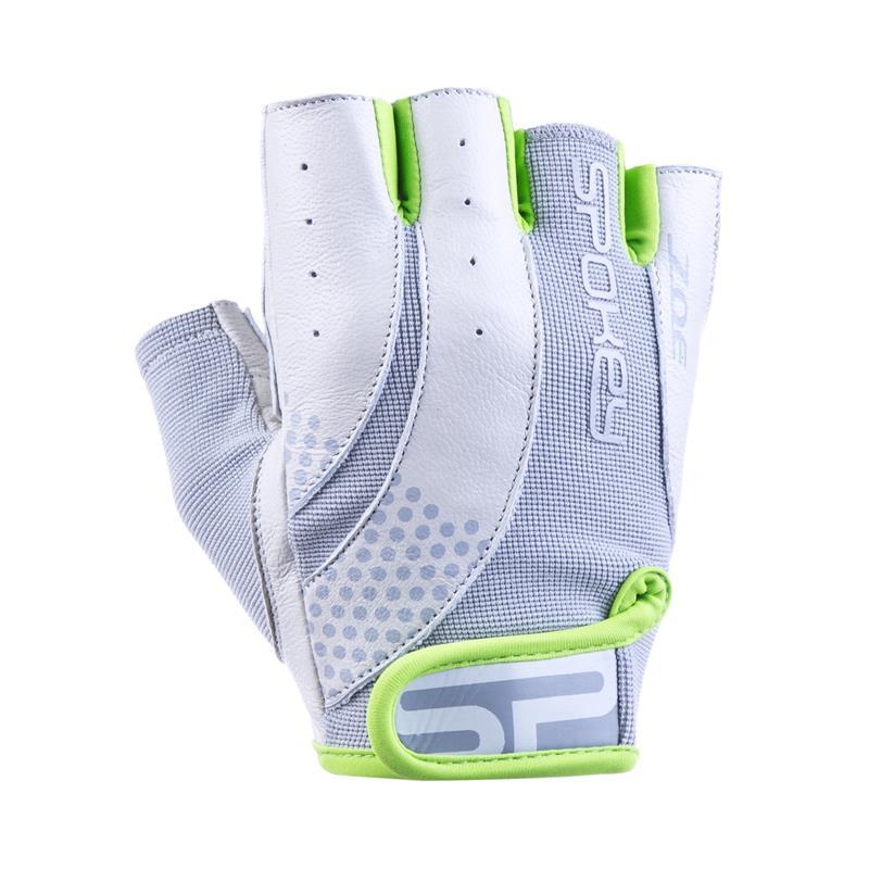 SPOKEY - ZOE II Dámské Fitness rukavice bílo-limetkové vel.L ... 6b3d767e34