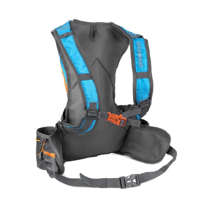 2e3c25093 SPOKEY - SPRINTER - Cyklistický a běžecký batoh 5l šedo/modrý, voděodolný