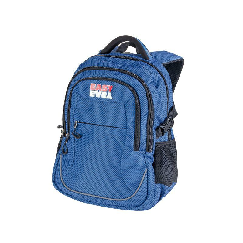 677d85c7af6 EASY - Batoh školní tříkomorový modré kostičky