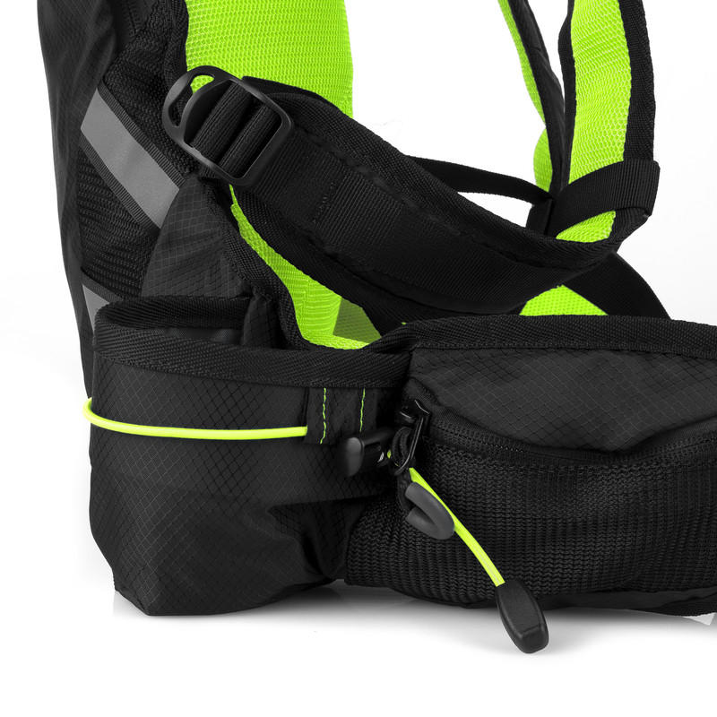 871327193 SPOKEY - SPRINTER - Cyklistický a běžecký batoh 5l zeleno černý, vodotěsný
