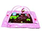 LUDI - Hrací deka s mantinelem a hrazdou Sova růžová
