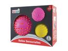 Senzorické míčky 3 ks růžové