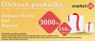 Dárková poukázka - 3000 Kč + bonus 150 Kč