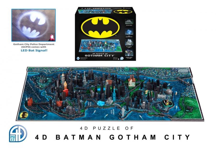 4D CITYSCAPE - 4D Puzzle - Batman Gotham City