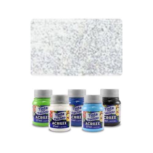ACR - ACR Farba na textil 37ml, glitter crystal