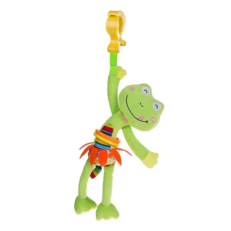 AKUKU - Dětská plyšová hračka s vibrací žabka