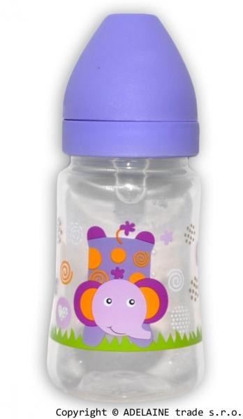 AKUKU - Lahvička 250ml - fialová se slonem
