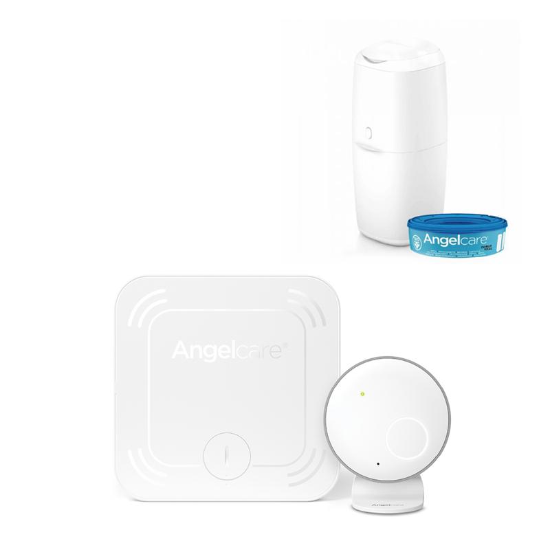 ANGELCARE - AC027 Monitor pohybu dechu + koš na pleny Classic + 1 kazeta