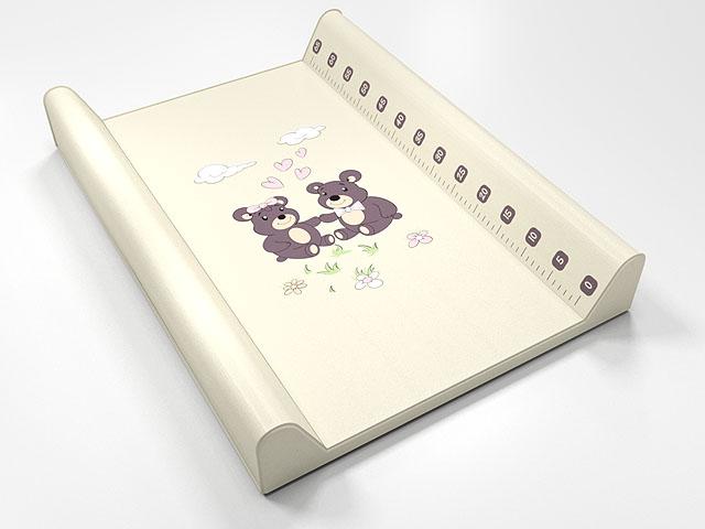 ANTONY FASHION - montovací přebalovací pult (bílý) - medvídci, velikost: 70x50x9 cm