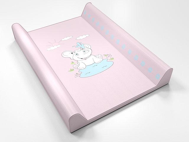 ANTONY FASHION - montovací přebalovací pult (růžový) - slůně, velikost: 70x50x9 cm