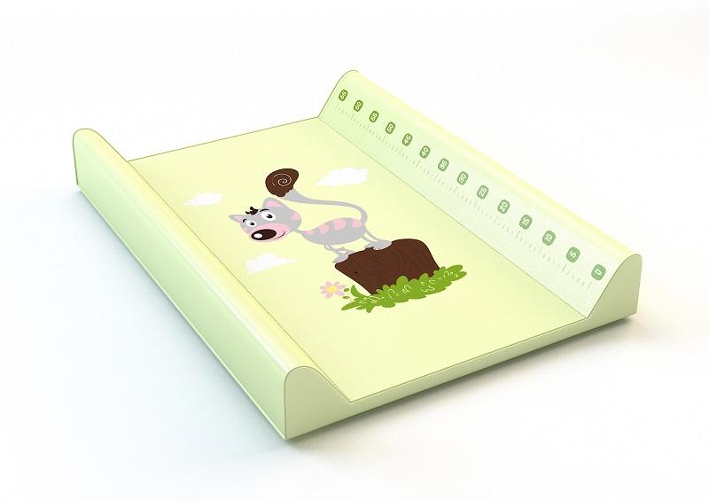 ANTONY FASHION - montovací přebalovací pult (zelený) - kočička, velikost: 70x50x9 cm