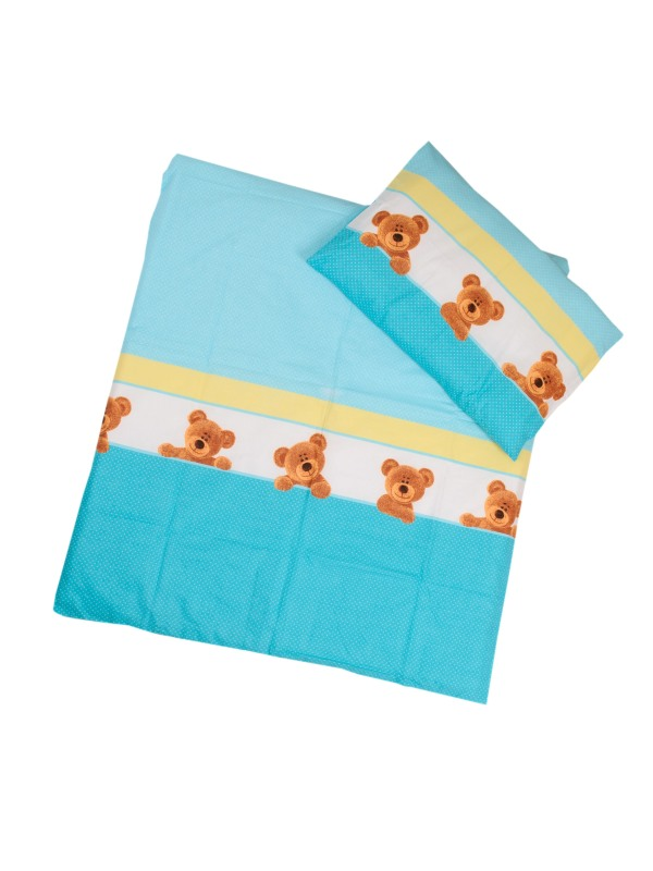 ANTONY FASHION - Povlečení (modré) - Macík, velikost: 120x90 (přikrývka) + 40x60 (polštář)