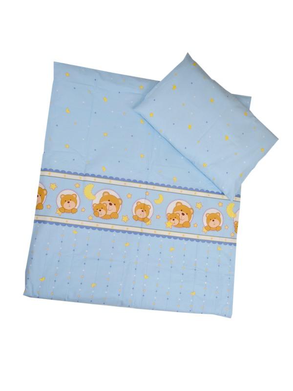 ANTONY FASHION - Povlečení (modré) - kočky, velikost: 120x90 (přikrývka) + 40x60 (polštář)