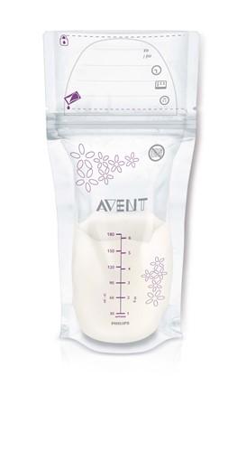 AVENT - Avent sáčky na mateřské mléko 180 ml, 25 ks