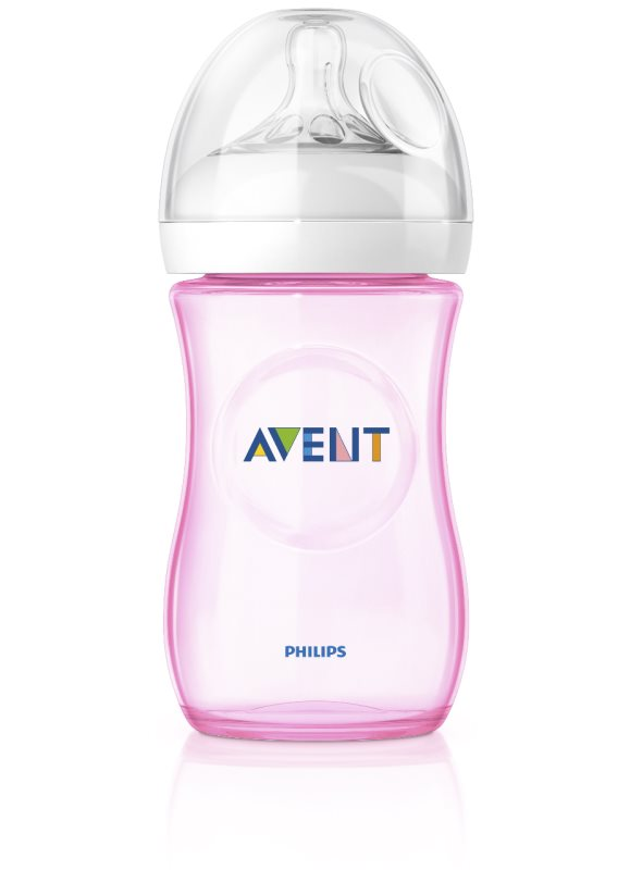AVENT - Láhev Natural PP 260 ml bez PBA růžová