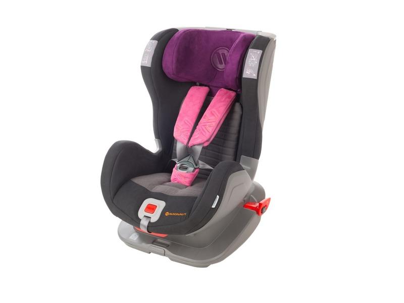AVIONAUT - Autosedačka Glider Softy Fit, 9-25 kg - černá / růžová
