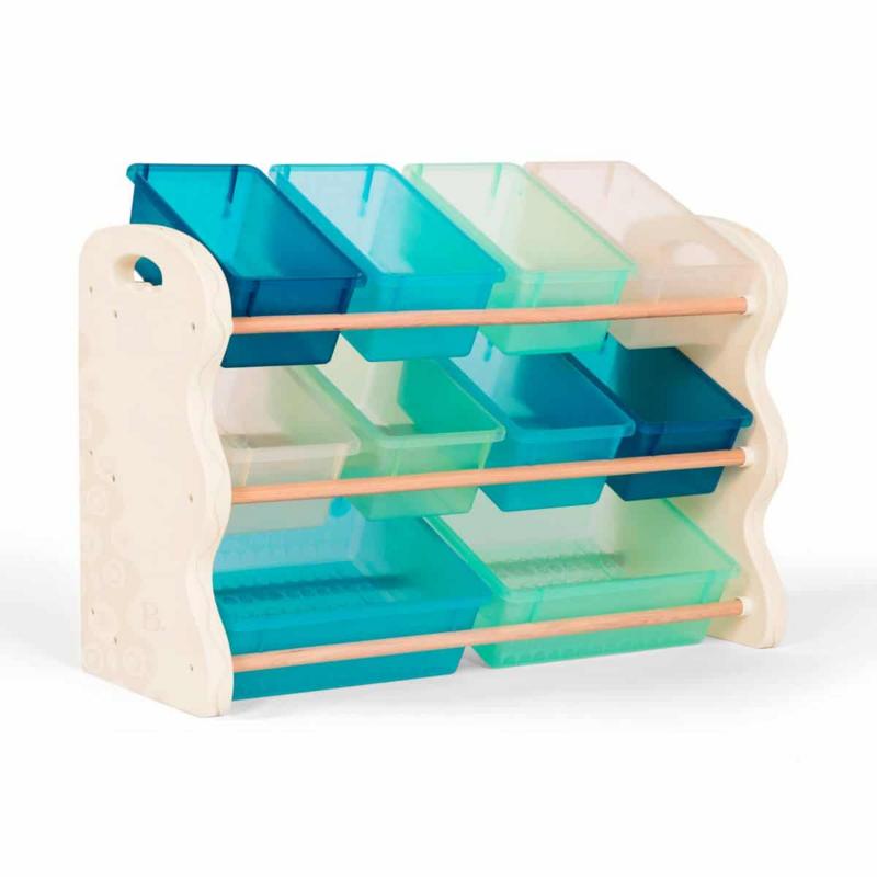 B-TOYS - Organizér na hračky s ukládacími boxy
