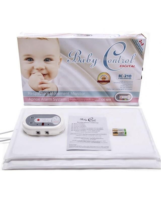 BABY CONTROL - Monitor dechu Baby Control BC-210, s 1x2 senzorovými podložkami