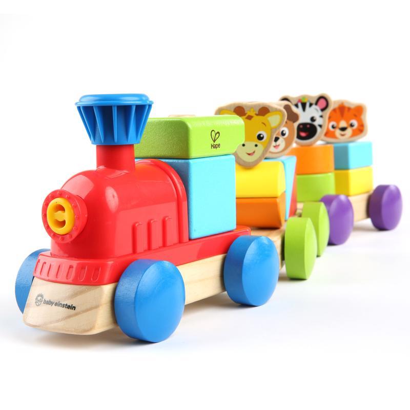 BABY EINSTEIN - Hračka dřevěná Discovery Train HAPE 18m +