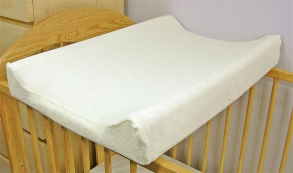 BABY NELLYS - Froté potah na přebalovací podložku, 70cm x 50cm - ecru