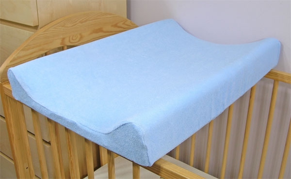 BABY NELLYS - Jersey potah na přebalovací podložku, 60cm x 80 cm - modrý