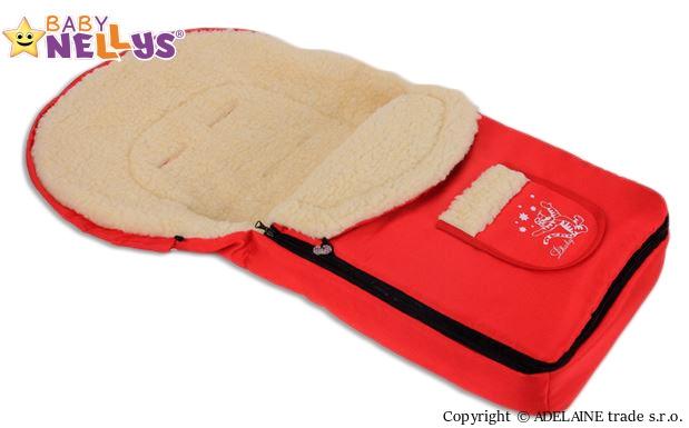 BABY NELLYS - Multifunkční fusák Vlna 4v1 ® - červený