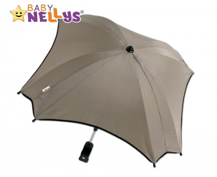 BABY NELLYS - Slunečník, deštník do kočárku ® - béžový
