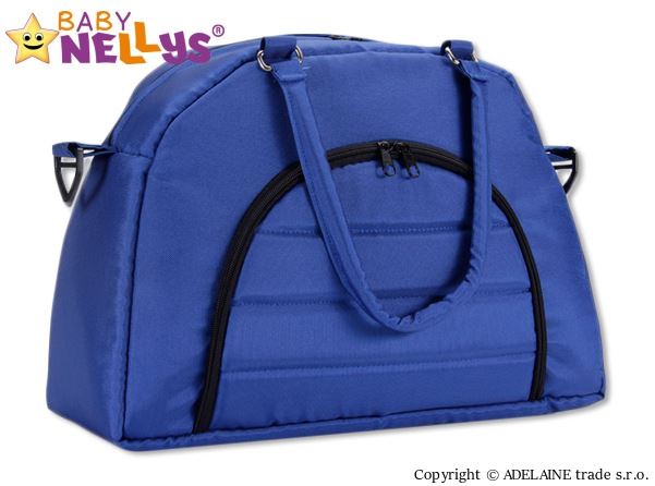 BABY NELLYS - Taška na kočárek ® ADELA LUX -granátová/tm.modrá