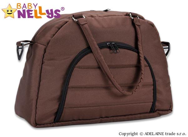 BABY NELLYS - Taška na kočárek ® ADELA LUX - hnědá