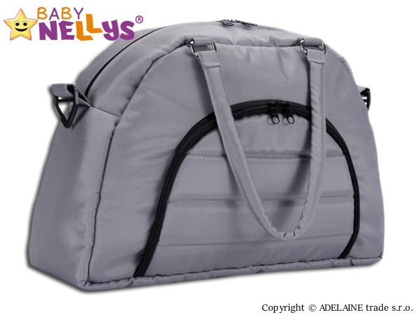 BABY NELLYS - Taška na kočárek ® ADELA LUX - šedá