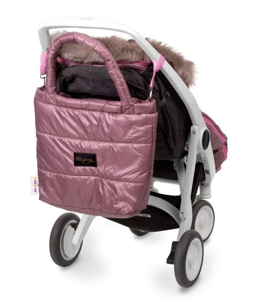 BABY NELLYS - taška na kočárek STYLE, pudrově růžová