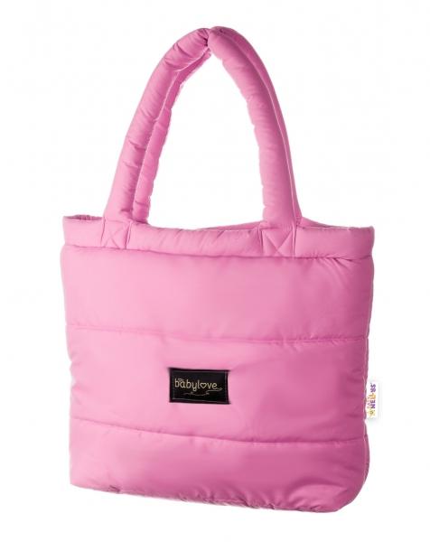 BABY NELLYS - taška na kočárek STYLE, světle růžová