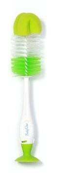 BABY ONO - Kartáč na čištění lahví a dudlíků 2v1 s přísavkou - Zelená