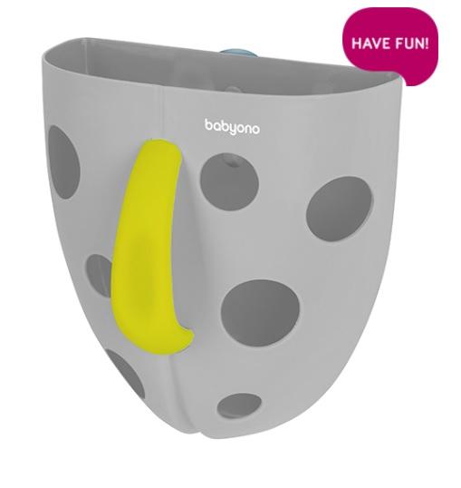 BABYONO - Box na hračky do vany - Šedá
