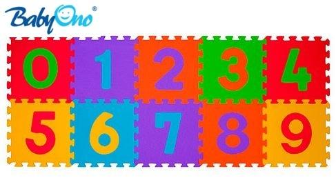 BABYONO - Pěnové puzzle - Čísla - 10ks