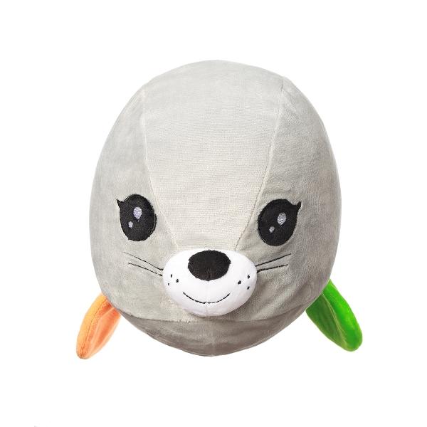 BABYONO - Plyšová hračka Tuleň Lucy - šedá, 46x17x20cm