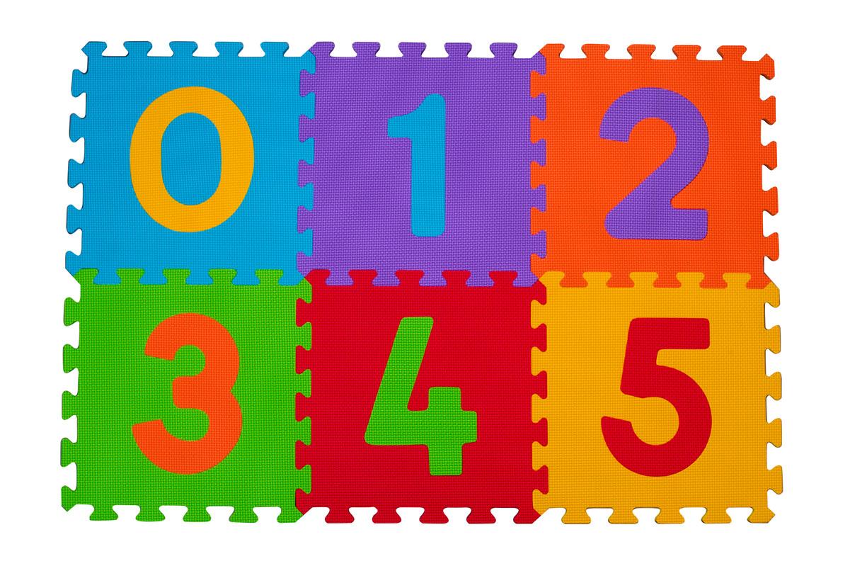 BabyOno - Puzzle pěnové číslice 6ks, 6m+