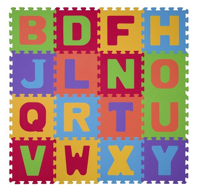 BabyOno - Puzzle pěnové písmena 16 ks, 6m+