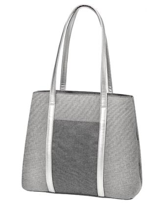 BABYONO - Taška ke kočárku Basic So Dynamic - šedá/stříbrná