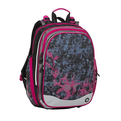 BAGMASTER - Školní batoh ELEMENT 8 A Black / Gray / Pink
