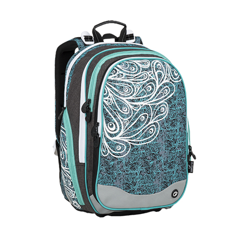 BAGMASTER - Školní batoh ELEMENT 9 A Turquoise / White / Gray
