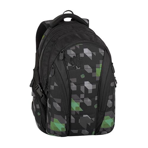 BAGMASTER - Studentský batoh BAG 8 G BLACK/GREEN/GRAY