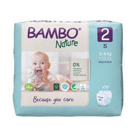 BAMBO - Nature Jednorázové pleny 2, 30 ks, pro 3-6 kg