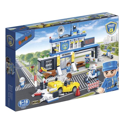 BANBAO - Stavebnica BanBao, Police - Policajná stanica s autom 938 ks + 5 figúrok ToBees