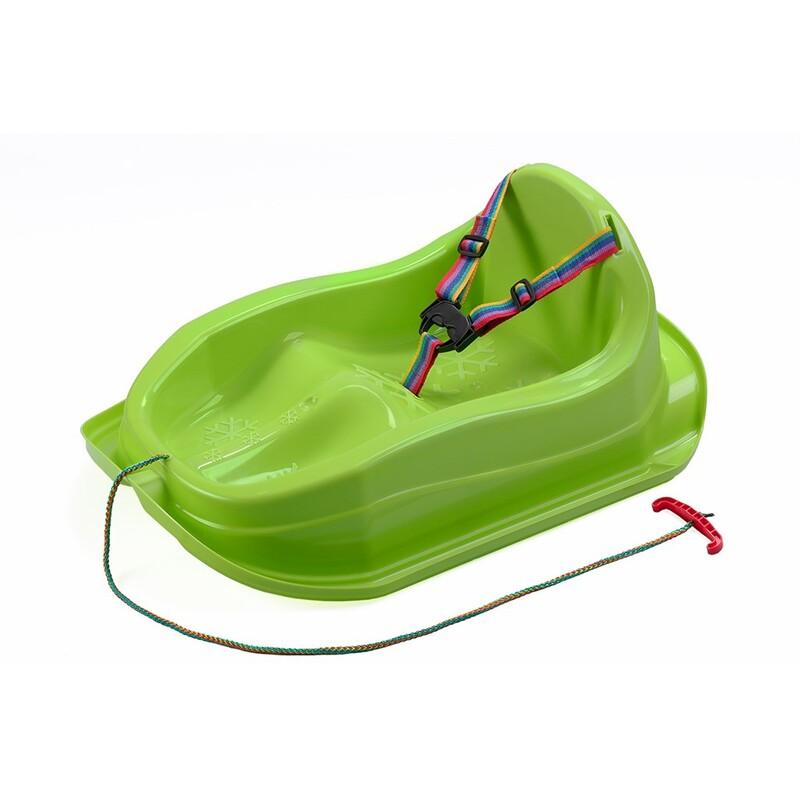 BAYO - Plastové sáňky s opěradlem MINI zelené